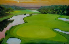 Golf, Painting, Oil on Canvas