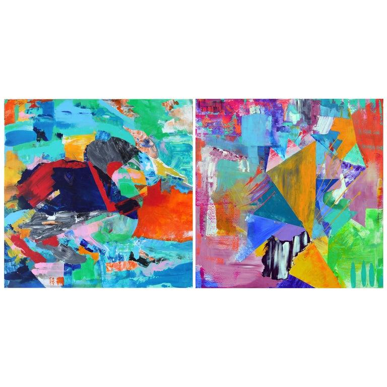 """""""Voyage"""" and """"Voyage II"""" Paintings by Kristina Kralikova"""