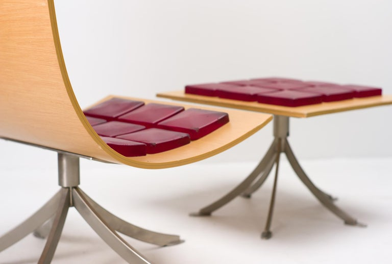Voyager Lounge Chair and Footstool by Gaby Fois Dorell For Sale 1