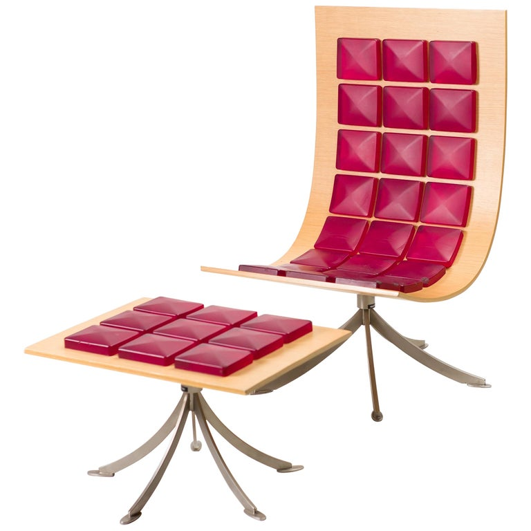 Voyager Lounge Chair and Footstool by Gaby Fois Dorell For Sale