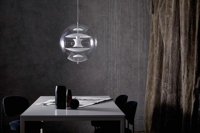 Modern VP Globe Glass Standard Pendant Light by Verner Panton For Sale