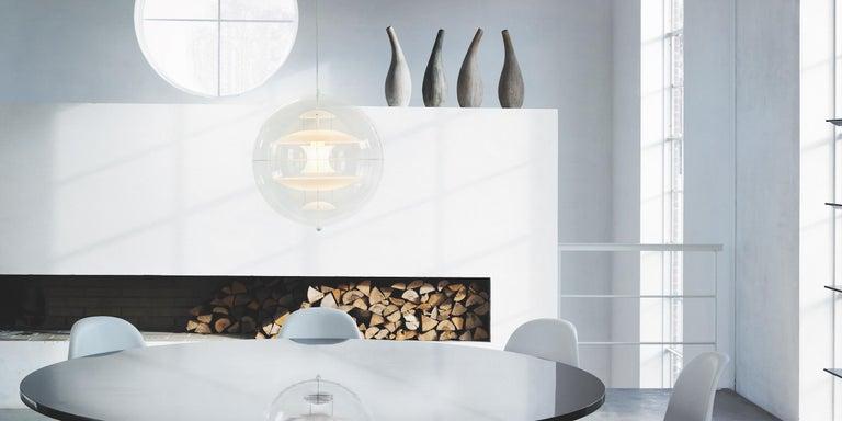 Contemporary VP Globe Glass Standard Pendant Light by Verner Panton For Sale