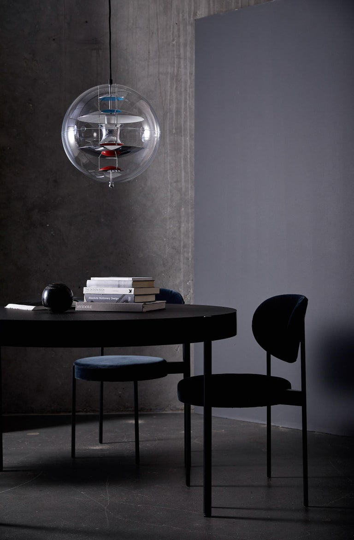 Metal VP Globe Standard Pendant Light by Verner Panton For Sale