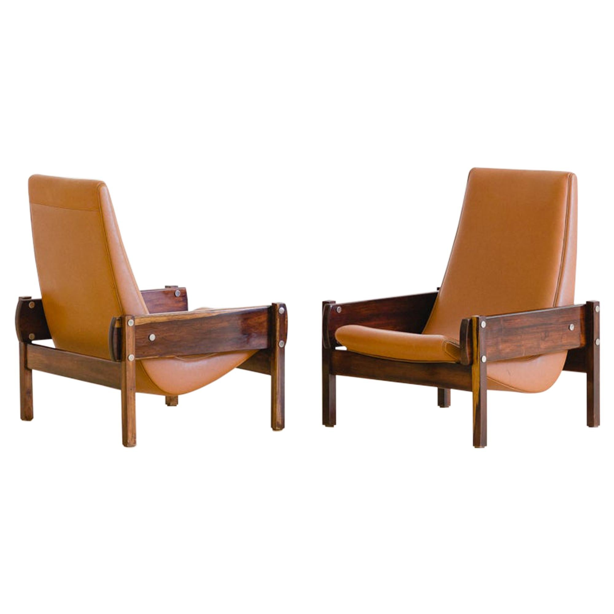"""Vronka"" Rosewood Midcentury Armchair by Brazilian Designer Sergio Rodrigues"