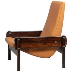 """Vronka"" Rosewood Midcentury Armchair by Sergio Rodrigues"