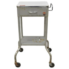 American Industrial Steel Metal Work Cart Stand Table Steampunk by Gomco 'A'