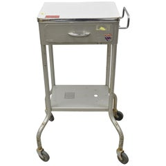 American Industrial Steel Metal Work Cart Stand Table Steampunk by Gomco (B)