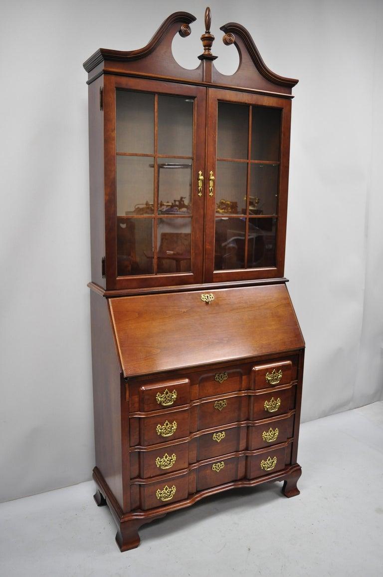 Admirable Vintage Cherry Chippendale Block Slant Front Secretary Desk By Jasper Cabinet Co Download Free Architecture Designs Xerocsunscenecom