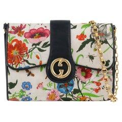"Vtg. GUCCI c.1970's Vittorio Accornero ""Flora"" Silk Clutch Shoulder Bag"