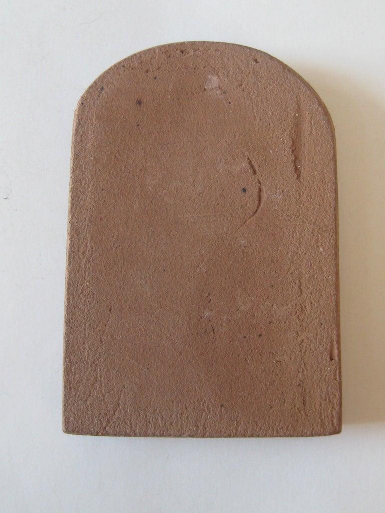 Vtg Modernist Torrey Pines Bank Advertising Art Pottery Plaque Tile San Diego For Sale 4