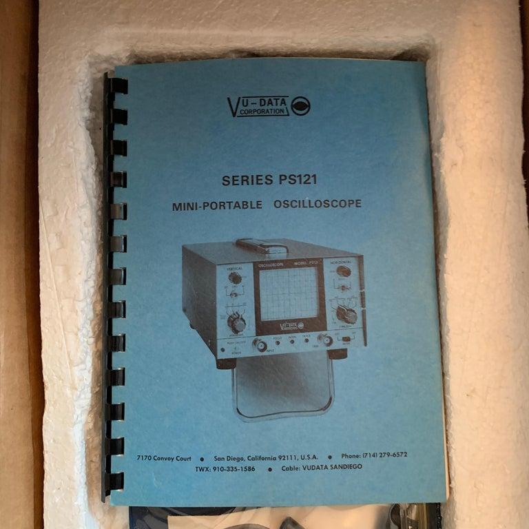 VU DATA Corporation Series PS121 Mini-Portable Oscilloscope For Sale 1