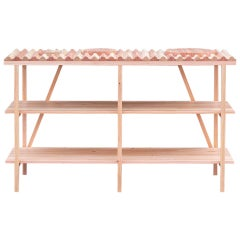 ISLAND desk by DUVALD. Display table - freestanding bookcase in Douglas fir