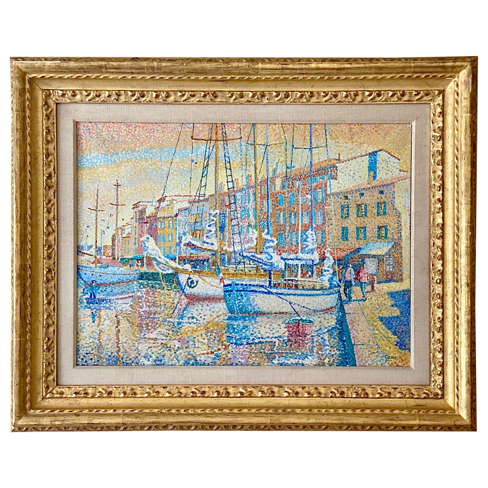"""Vue du Port, St Tropez"" by Yvonne Canu"