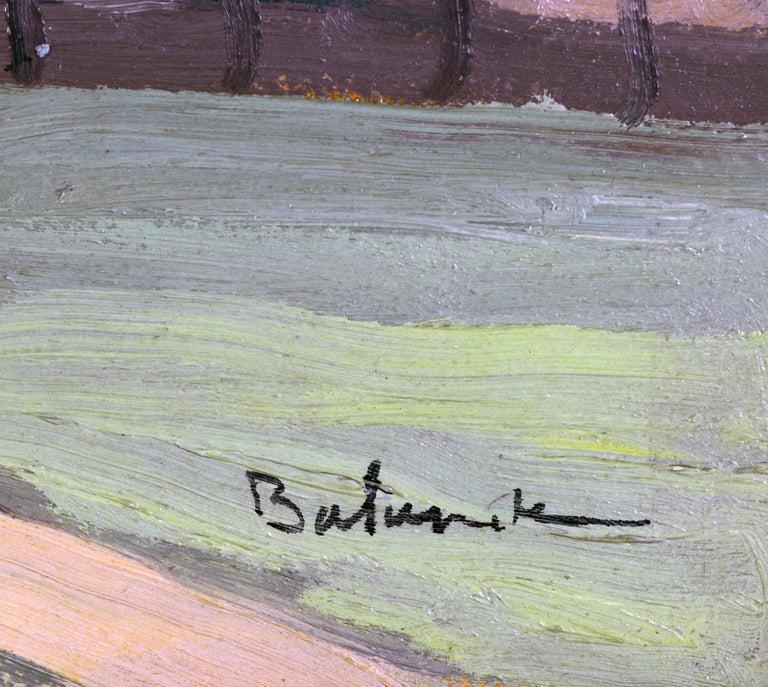 'Vue Plongeante sur le Port de Rouen' by Gaston Balande, Spain France, 1880-1971 For Sale 2