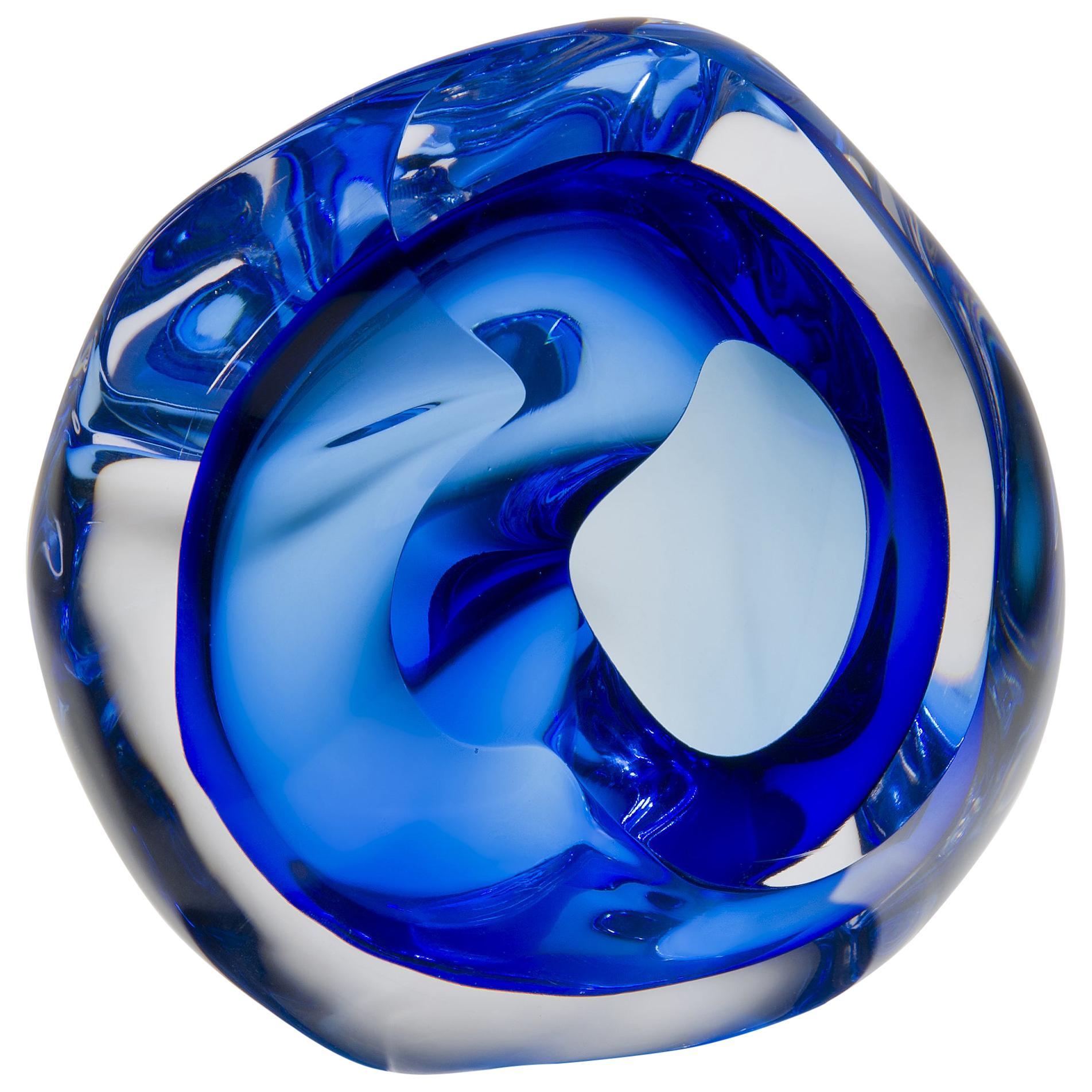 Vug in Blue, a Unique Glass Sculpture by Samantha Donaldson