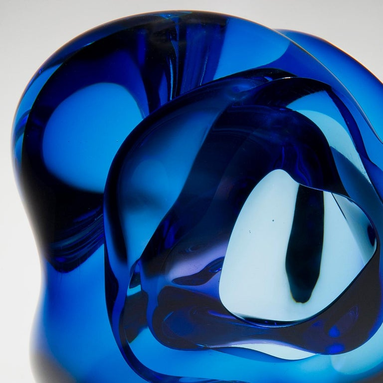 British Vug in Blue and Hyacinth, a Unique Glass Sculpture by Samantha Donaldson For Sale
