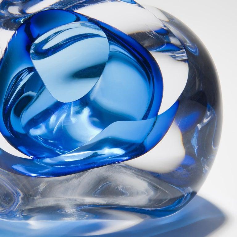 British Vug in Turquoise, a Unique Glass Sculpture by Samantha Donaldson