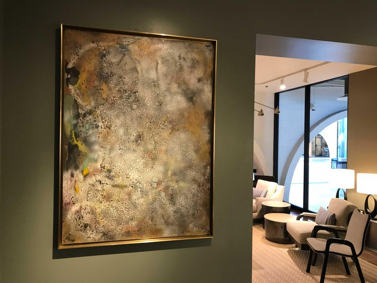 Vuitton by Jessica Mayer Fine Art Textured Metal Canvas Cerused with Metal Waxes In New Condition For Sale In Seattle, WA