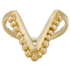 Vulcan Stacker Ring, 18 Karat Yellow Gold