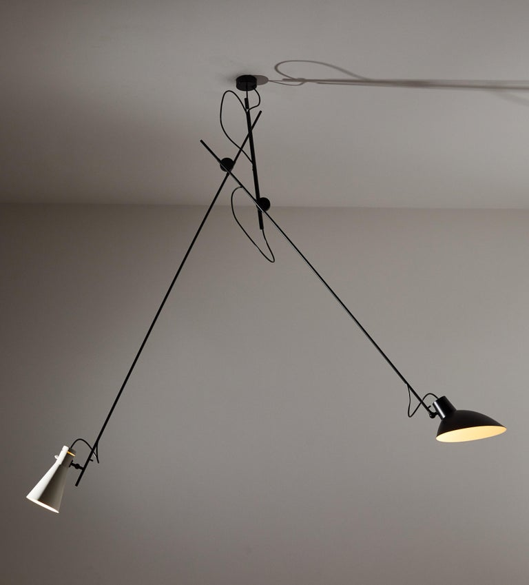 Mid-Century Modern VV Cinquanta Suspension Light by Vittoriano Viganó For Sale
