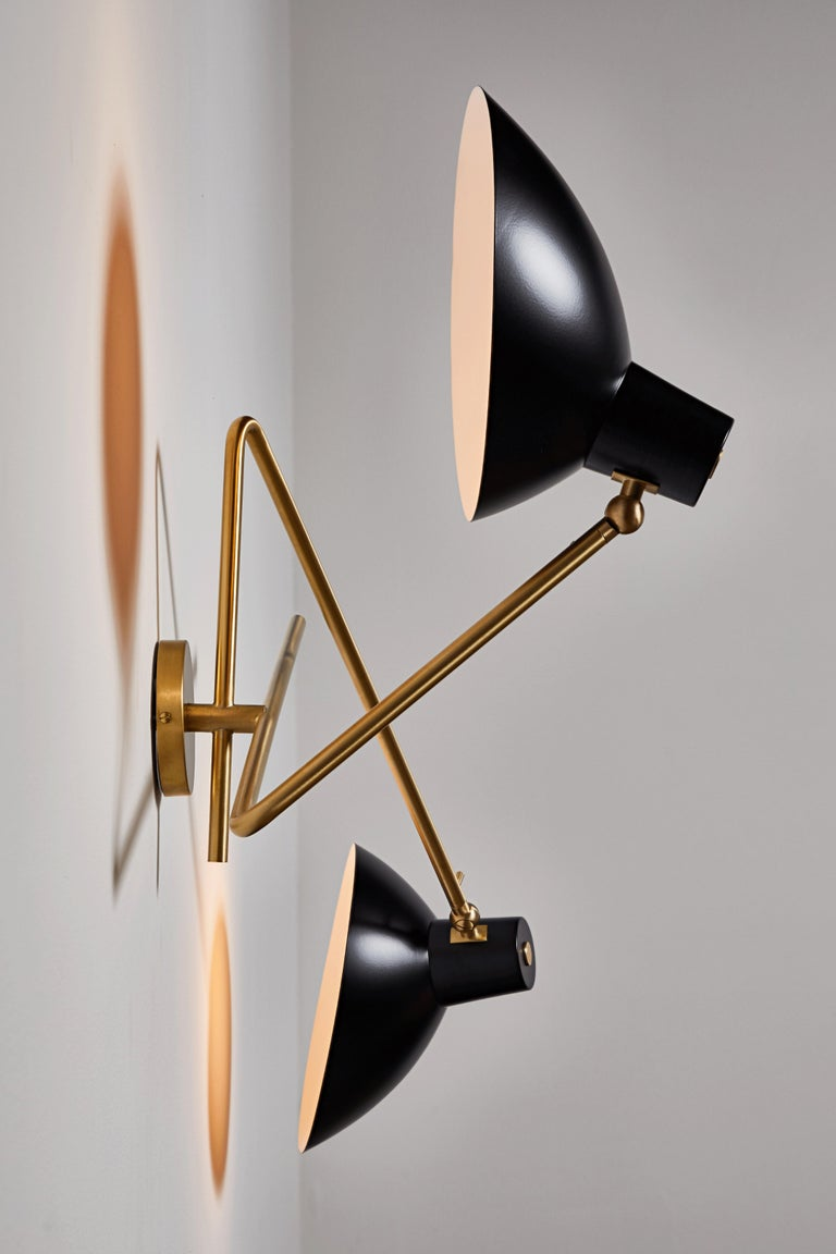Mid-Century Modern VV Cinquanta Twin Wall Light by Vittoriano Viganó For Sale