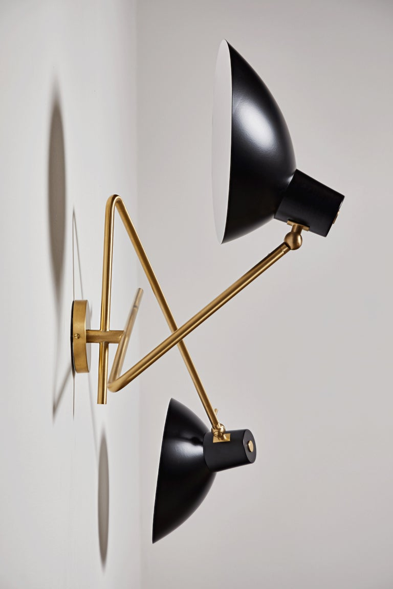 VV Cinquanta Twin Wall Light by Vittoriano Viganó In New Condition For Sale In Los Angeles, CA