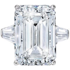 INTERNALLY FLAWLESS GIA Certified 3.71 Carat Emerald Cut Diamond