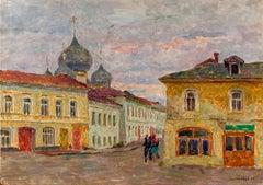 """Vyacheslav Zabelin, """"A Corner in Rostov"""", 19.63in x 27.50in, Oil on canvas"""