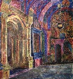 """Vyacheslav Zabelin, """"Alter Gates at Rostov"""", 25.50in x 27.50in, Oil on canvas"""