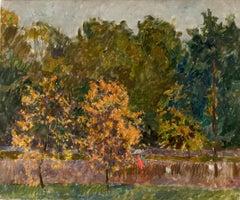 "Vyacheslav Zabelin, ""Autumn"", 19.32in x 23.25in, Oil on canvas"