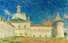 "Vyacheslav Zabelin, ""Church of the Savior"", 31.13 x 19.63, Oil on Panel"