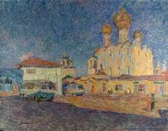 """Vyacheslav Zabelin, """"Evening in Rostov"""", 23.50in x 30in, Oil on canvas"""