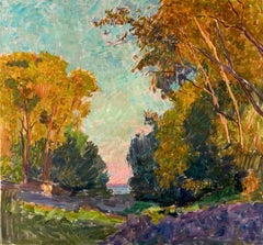 "Vyacheslav Zabelin, ""Golden Evening"", 27.38in x 25.38in, Oil on canvas."