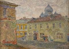 """Vyacheslav Zabelin, """"Gray Day"""", 27in x 19.50in, Oil on panel"""