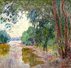 """Vyacheslav Zabelin, """"Green Day"""", 27.50in x 29.50in, Oil on canvas"""