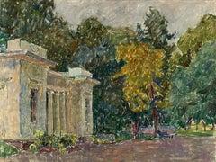 """Vyacheslav Zabelin, """"In the old Park"""", 19.63in x 27.50in, Oil on canvas"""