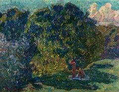 """Vyacheslav Zabelin, """"June"""", 10.63in x 13.88in, Oil on canvas"""
