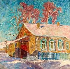 "Vyacheslav Zabelin, ""March"", 23.63in x 23.63in, Oil on canvas"