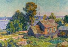 """Vyacheslav Zabelin, """"Oka River"""", 21.63in x 31.50in, Oil on canvas"""