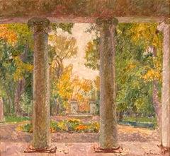 "Vyacheslav Zabelin, ""Park in the Fall"", 25.38in x 27.50in, Oil on canvas"
