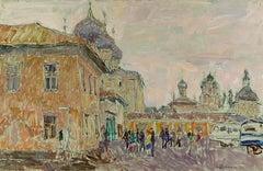 """Vyacheslav Zabelin, """"Pearl colored day"""", 30.50in x 19.63in, Oil on Panel"""