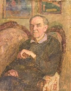 "Vyacheslav Zabelin, ""Portrait of a Man (Father)"", 26.38in X 20in, Oil on linen"