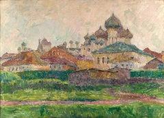 """Vyacheslav Zabelin, """"Rostov"""", 27.38in x 19.50in, Oil on canvas"""