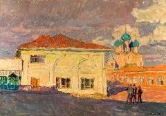 """Vyacheslav Zabelin, """"Rostov Evening"""", 27in x 18.88in, Oil on panel"""