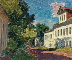 """Vyacheslav Zabelin, """"Street in Rostov"""", 19.50in x 23.38in, Oil on canvas"""