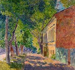 """Vyacheslav Zabelin, """"Sunny Day"""", 27.38in x 25.63in, Oil on canvas"""