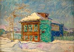 """Vyacheslav Zabelin, """"Winter"""", 19.63in x 27.50in, Oil on canvas"""