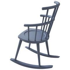 W. 604 Light Blue Rocking Chair by Fabrizio Gallinaro