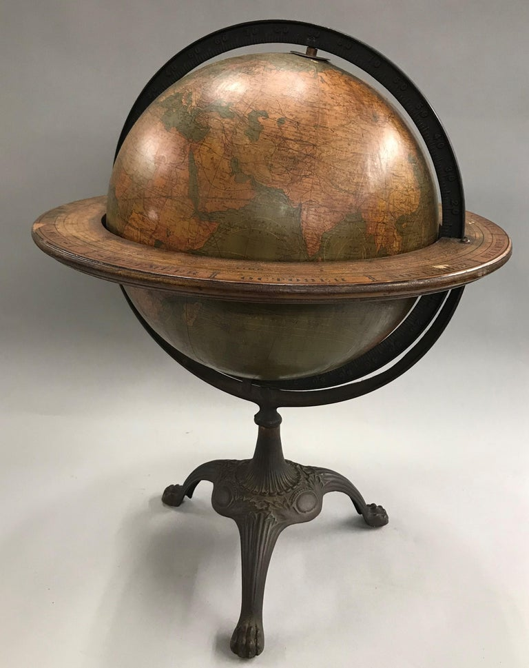 American W. & A.K. Johnston Terrestrial Globe by Weber Costello For Sale