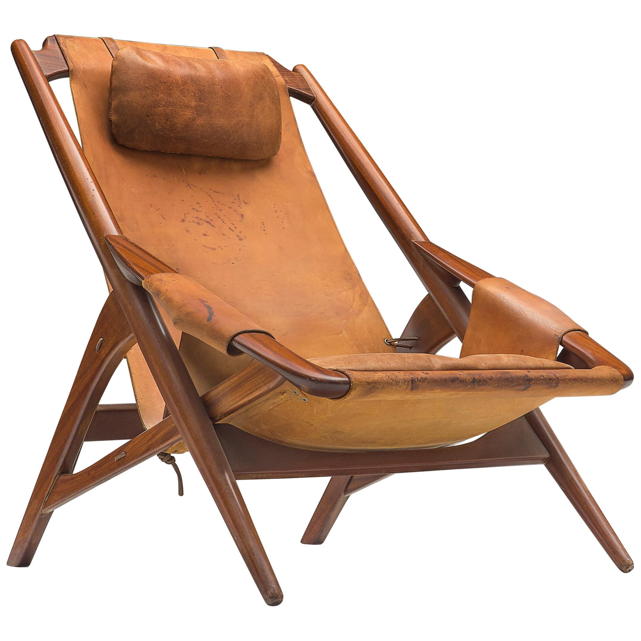 W. Andersag Lounge Chair in Patinated Cognac Leather